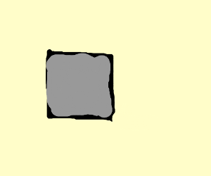 Black outline around gray square