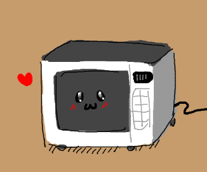 Cute Blushing Microwave