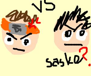 Nautro and Sasuke BATTLE!
