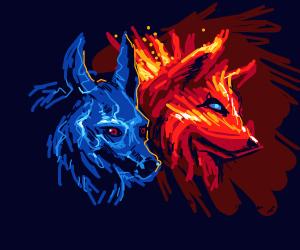 Elemental Wolves - Drawception
