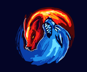Ice And Fire Wolf