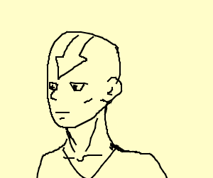 Avatar Aang but simple