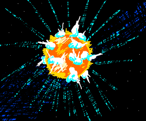 Star explosion/Explosion in space