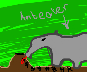 cyborg anteater finds ants