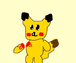 Pikachu removes his arm
