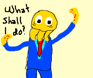 Octodad not knowing what to do.