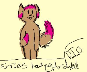 furries having fur dyed PIO