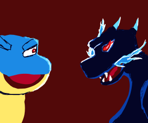 Mega charizard x vs mega blastoise mega battle