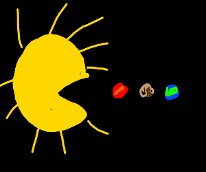 Sun eating solar system