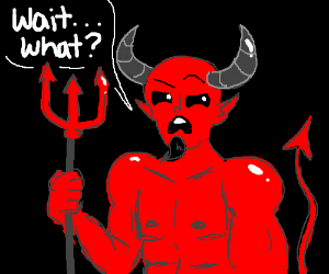 Image result for the devil is confused