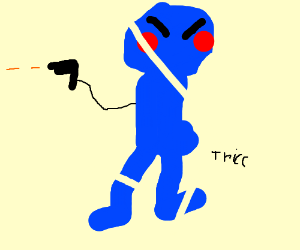 Bluemo gets his revenge!! He also has a gun.