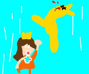 Princess Daisy beats up Jazza!
