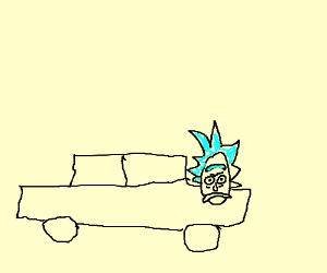 Rick (Rick&Morty) turned himself into a car