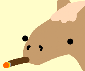horse smoking cigar