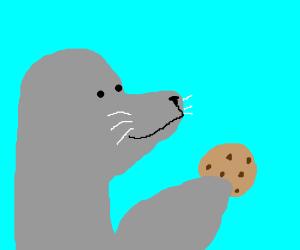 manatee eating coconuts drawception