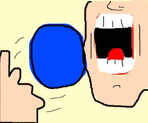 Blue gumball