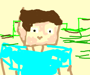 A Poorly Drawn Minecraft Person Drawing By Alex Chavez Drawception