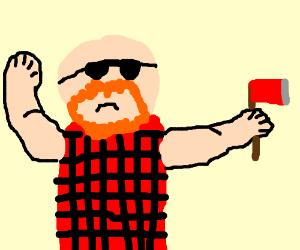 lumber jack with sunglasses