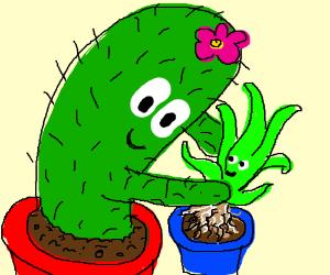 a plant planting a plant