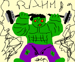 Hulk trying to get fit