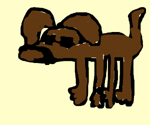 dog looks like snoop dog caying cermet drawing by icenarwhal