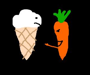 ice cream cone gets mocked