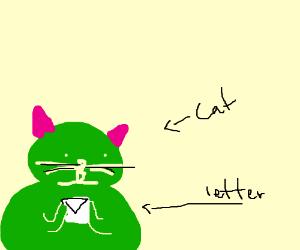 Cat Got A Letter