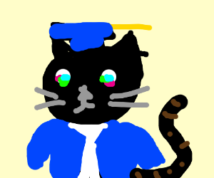 Anime cat gets its college degree.