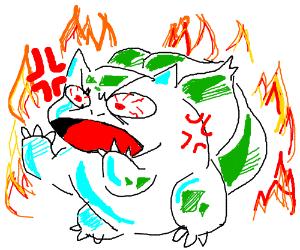 angry bulbasuar