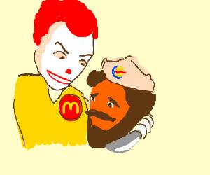Mc Donalds Mascot Killing The Burger King