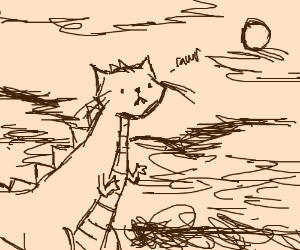 Prehistoric dinosaur cat