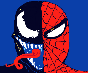 Half Venom half Spiderman