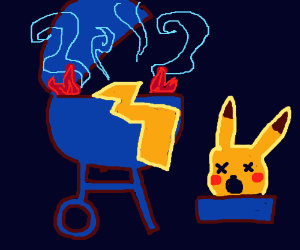 Step 9: Eat Barbecued Pikachu
