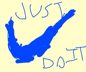 a blue nike symbol