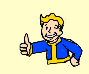 Fallout Guy with Blond hair