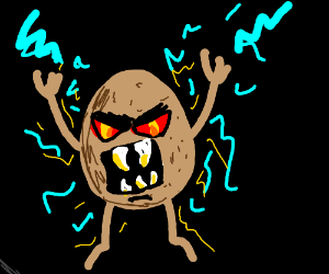 Electric potato monster