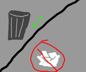 Trash CAN, not trash CANNOT
