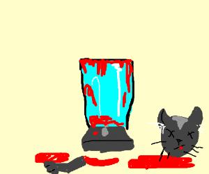 Someone put a kitten in the blender - Drawception