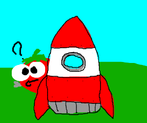 Tomato building a rocket