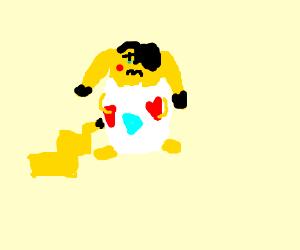 emo pikachu inside a togepi egg