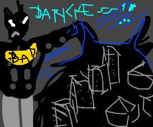 Batman-esque villian commands darkness