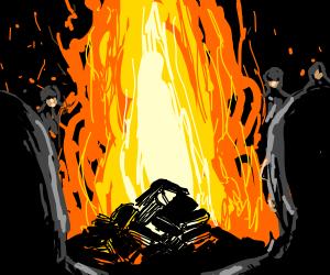Satanic Book Burning Ritual