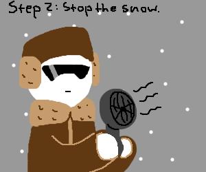 Step 1: It's snowing on Mt. Fuji