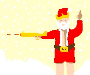 King Santa Shooting Blowtorch Nerf Gun