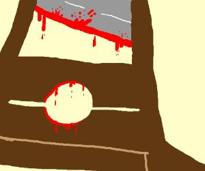 Bloody guillitine