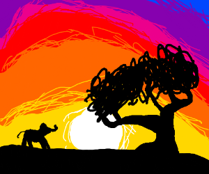 African savannah at sunset