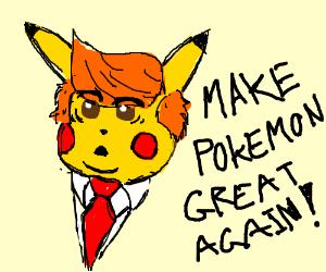pikachu as trump