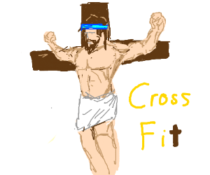 Aerobic Jesus wants to stay fit