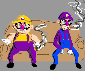 Wario and Waluigi hanging out