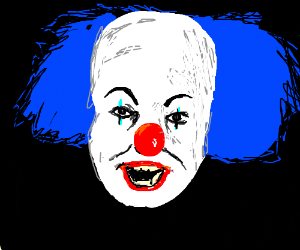 Stephen King's IT with blue hair